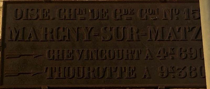 Plaque de cocher à Margny sur Matz (France – Oise)