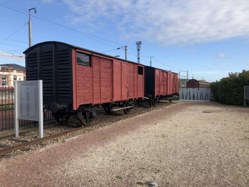 Wagon de la déportation à Margny Les Compiègne (France – Oise)