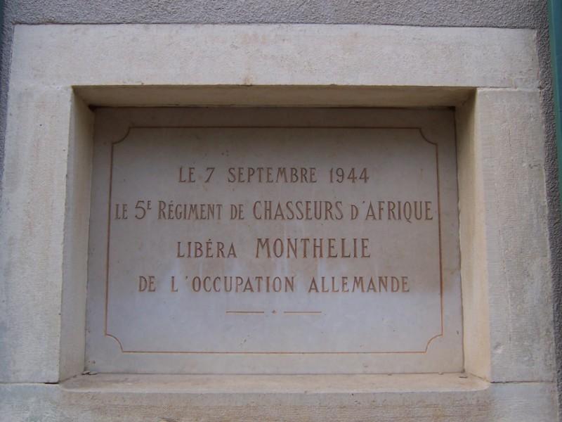 Plaque de la liberation de Monthelie (France – Cote d'Or)
