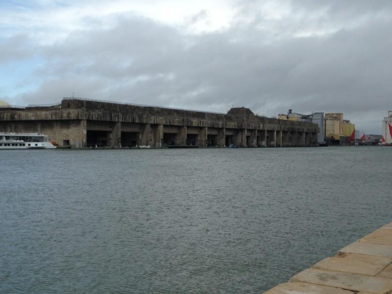 Base des sous marins Allemands de St Nazaire (France – Pays de Loire)