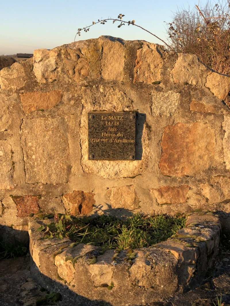 Plaque commémorative Bataille du Matz à Lassigny (France – Oise)
