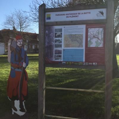 Parcours Historique de la butte du Plemont à Plessis de Roye (France – Oise)