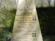 Monument des gardes des eaux et forêts à Rethondes (France – Oise)