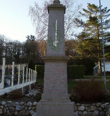 Monument aux morts de La Calotterie La Madelaine (France – Pas de Calais)