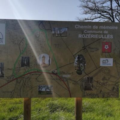 Chemin de memoire de Rozerieuilles (France – Moselle)
