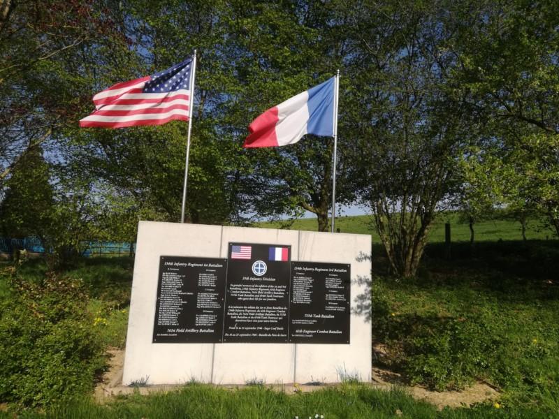 Monument de la 35th division us à Agincourt (France – Meurthe et Moselle)