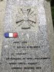 Stèle commémorative sur la Bataille du Matz à Canny sur Matz (France – Oise)