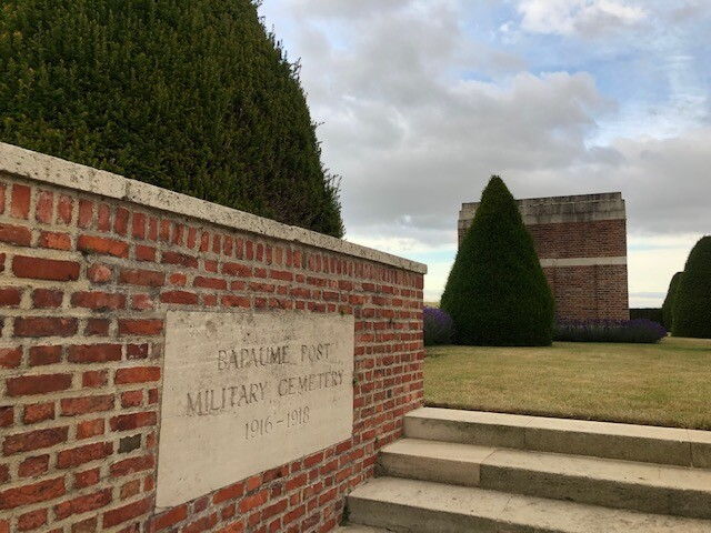 Bapaume post military cemetery à Albert (France – Somme)