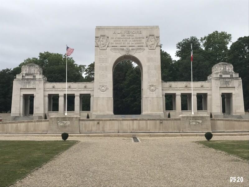 Mémorial Escadrille La Fayette à Marnes-la-Coquette (France – Hauts-de-Seine)