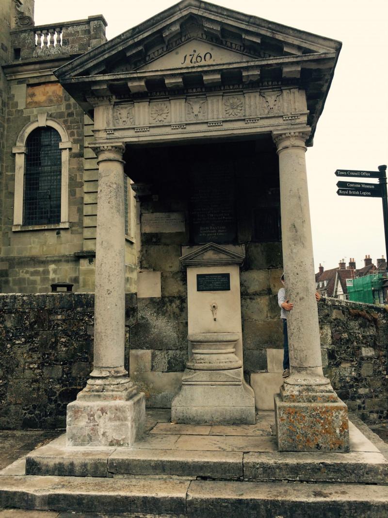 The Bastard's Pump in Blandford Forum (United Kingdom)