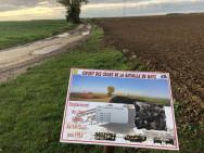 Stèle en mémoire du sergent Jules Heme à Courcelles Epayelles (France – Oise)